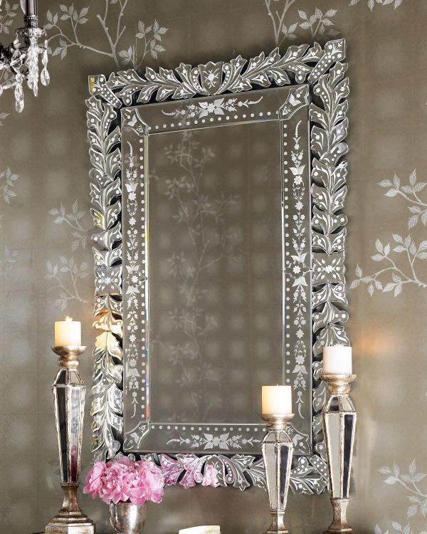 miroir décoratif mural pour un grand foyer