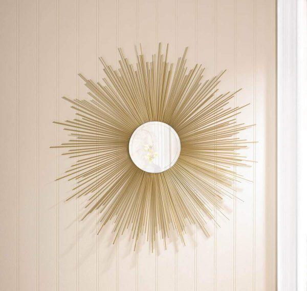miroir décoratif mural rayons de soleil