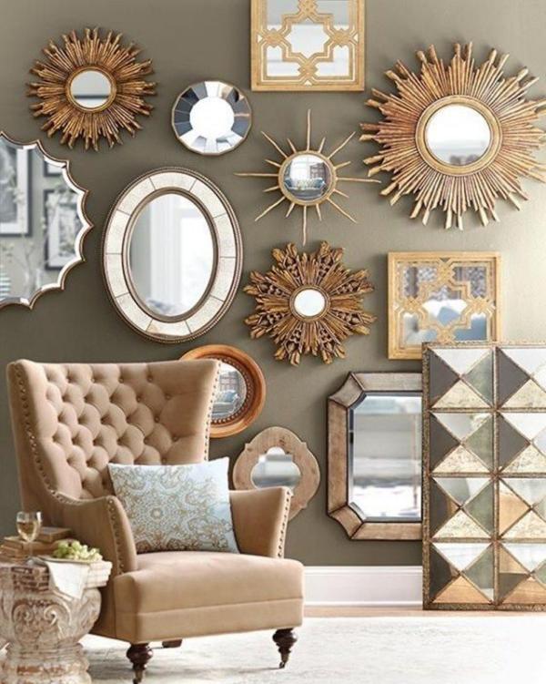 miroir décoratif mural tailles et formes