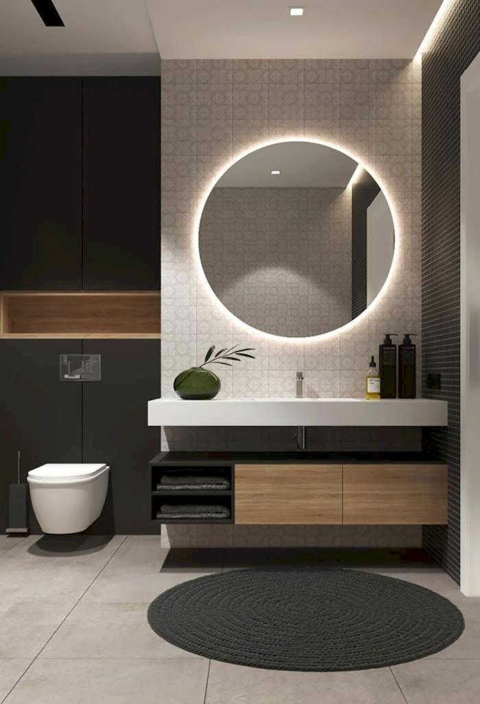miroir lumineux salle de bains home staging salle de bain