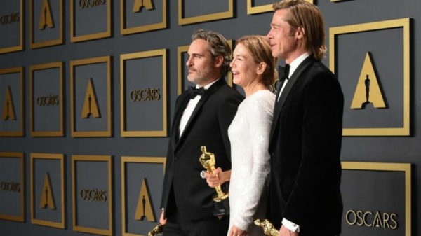 oscars 2020 Joaquin Phoenix Renee Zellweger et Brad Pitt