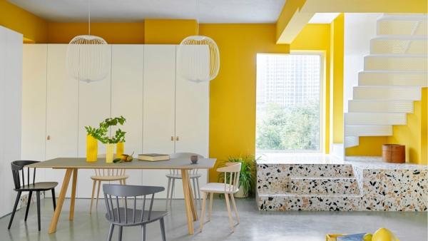 peinture appartement différentes couleurs des chaises