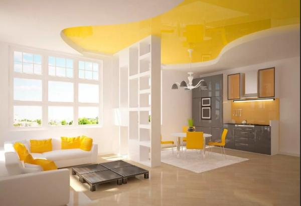 peinture appartement dosseret jaune