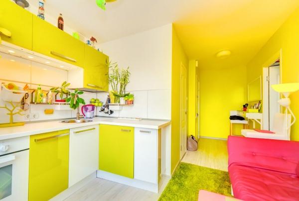 peinture appartement jaune citron