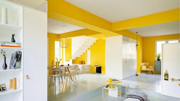 peinture appartement poutres portantes