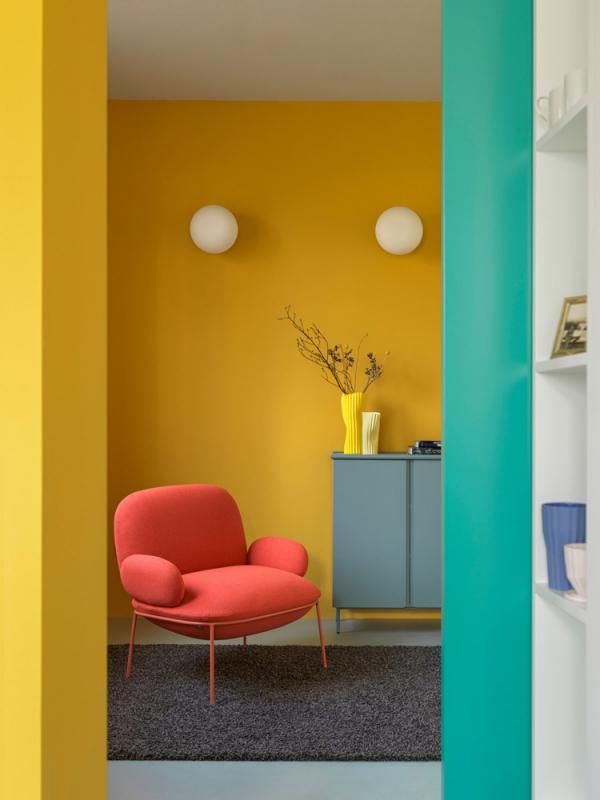 peinture appartement un coin lecture