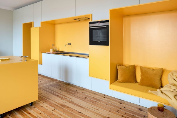 peinture appartement zones en jaune