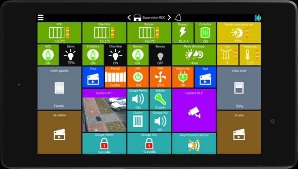 système domotique interface android
