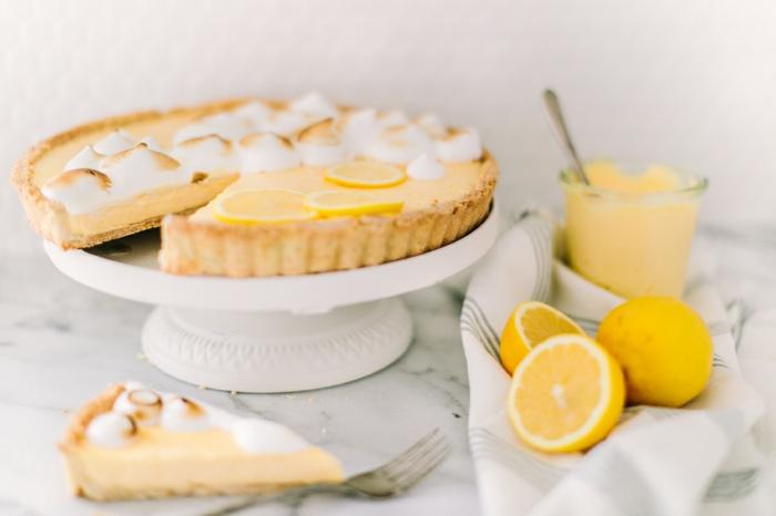 tarte au citron idée de menu brunch de pâques