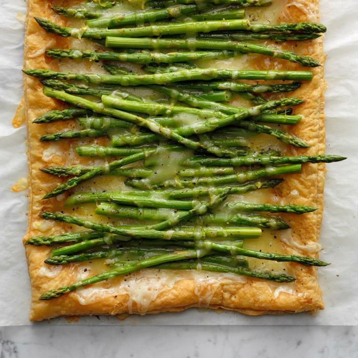 tarte aux asperges vertes brunch de pâques