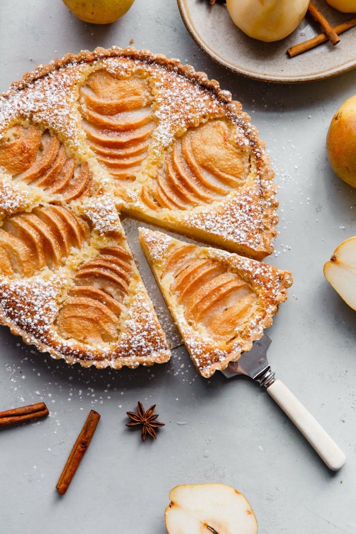 tarte aux poires brunch de pâques idée dessert