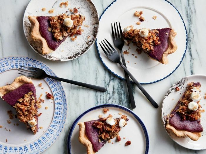 tarte de pommes de terre violettes brunch de pâques