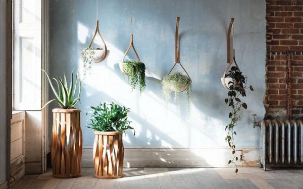 tendance déco intérieur biophilie plantes vertes sol et murs bruts