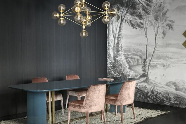 tendance déco intérieur biophilie salle à manger papier peint panoramique