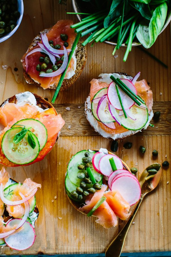toast au saumon fumé brunch de pâques