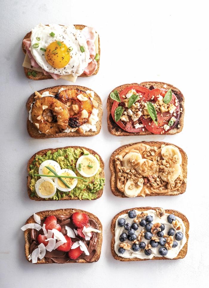 toast salé et sucré idées brunch de pâques