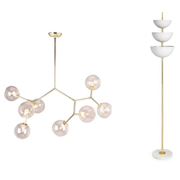 éclairage et lampes pour la maison comme une formule chimique