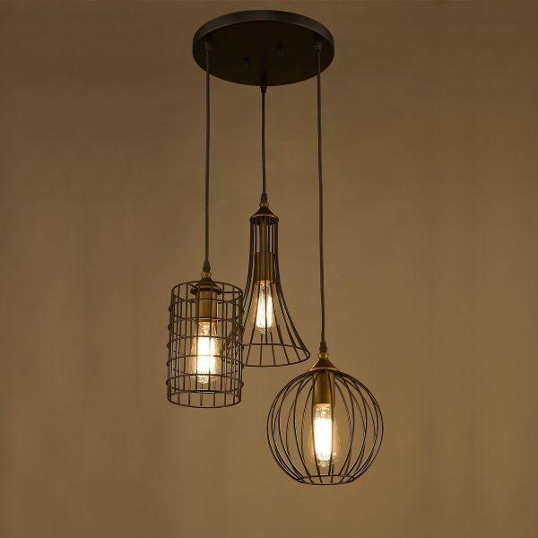 éclairage et lampes pour la maison trois formes différentes