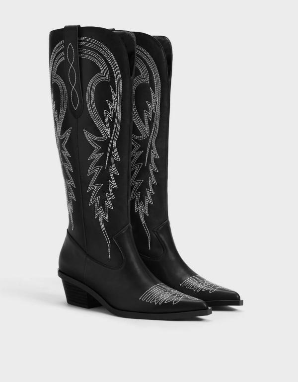 bottes santiag couleur noire