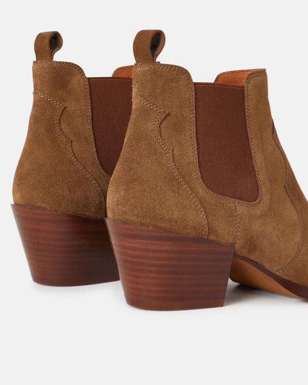 bottes santiag velours et cuir