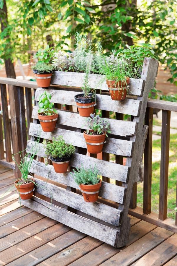 bricolage jardin avec des pots en terre cuite mur végétal