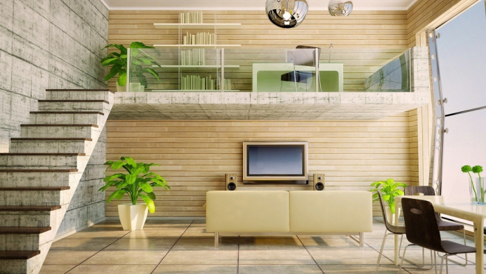 bureau à domicile ambiance futuristique