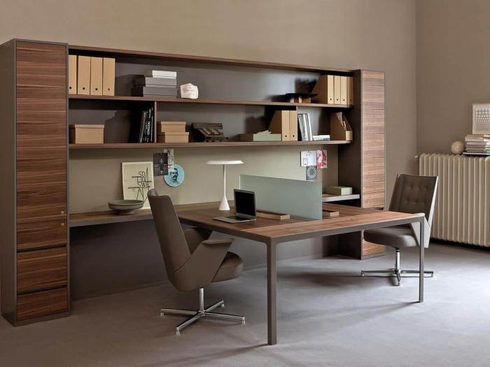 bureau à domicile couleur chocolat