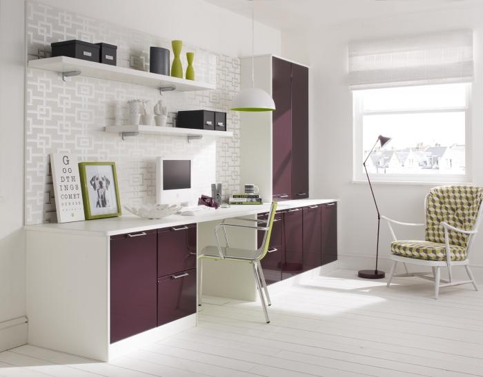 bureau à domicile couleurs lilas et pastel
