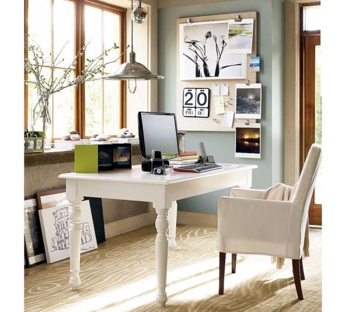 bureau à domicile idée vintage
