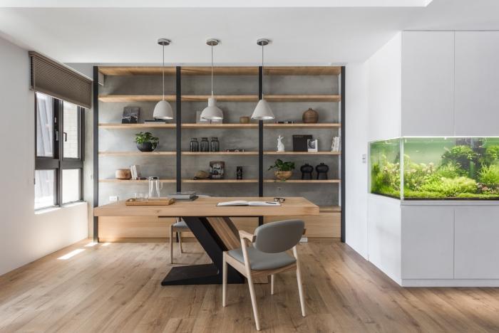 bureau à domicile meubles en bois