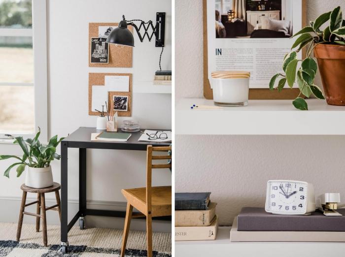bureau à domicile table à roulettes