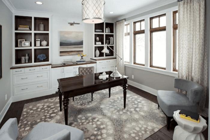 bureau à domicile table au milieu