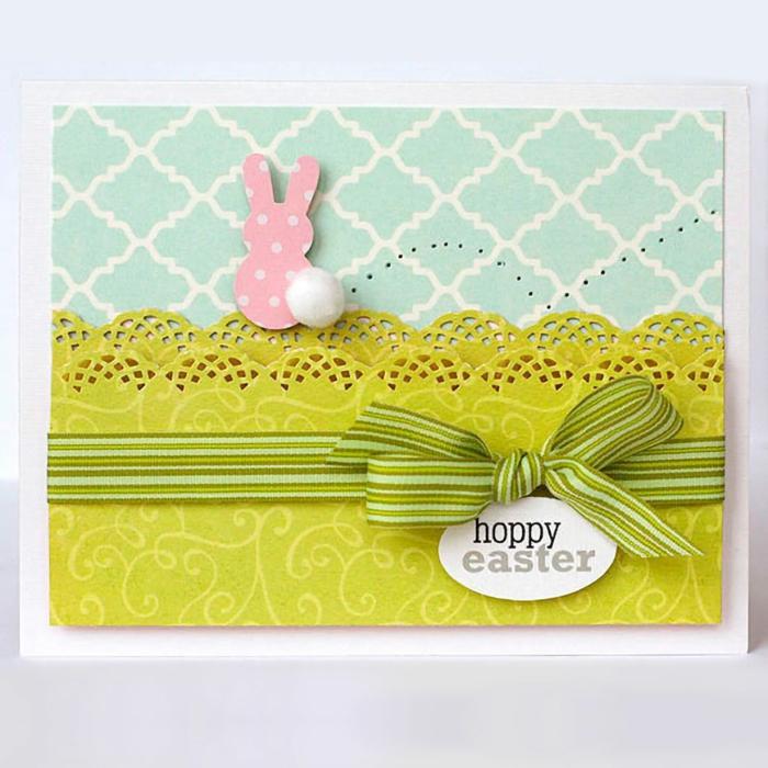 carte joyeuses pâques à faire avec du papier cartoné