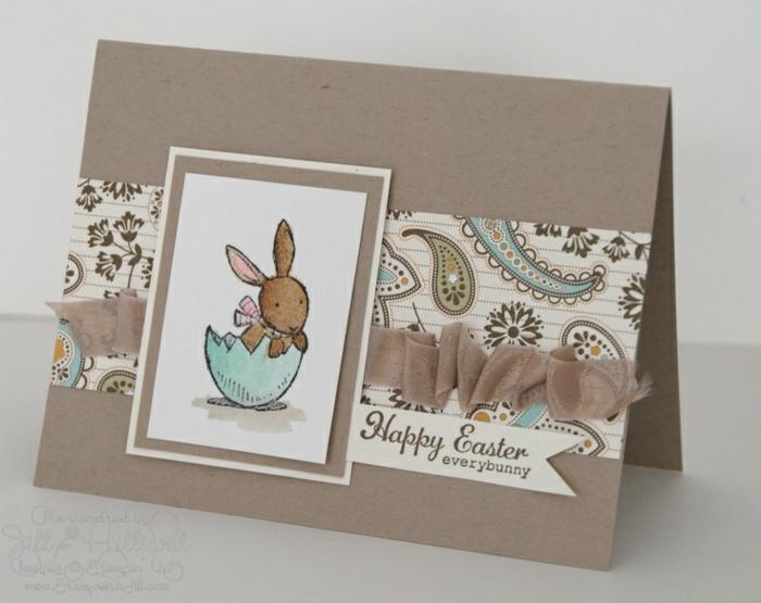 carte joyeuses pâques avec dentelle