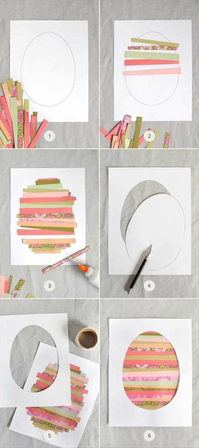 carte joyeuses pâques oeuf coloré