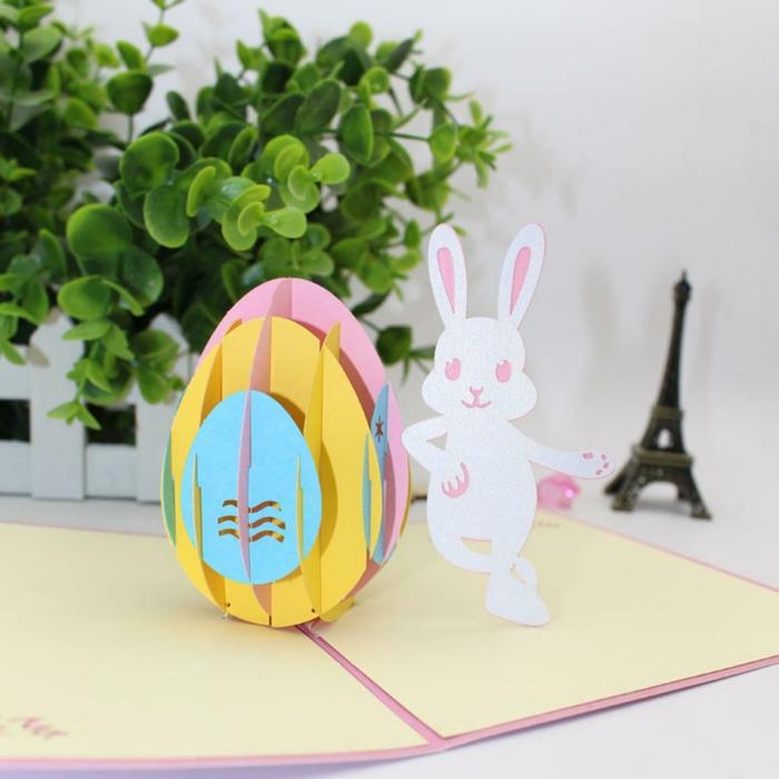 carte joyeuses pâques pop up 3d effet
