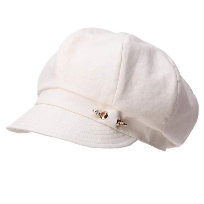 casquette gavroche femme blanc pour la belle saison