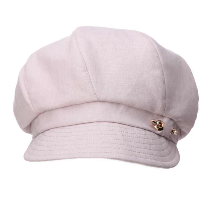 casquette gavroche femme chapeau en lin
