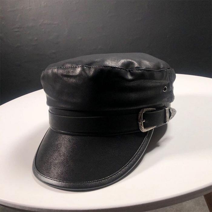 casquette gavroche femme fabriquée en cuir