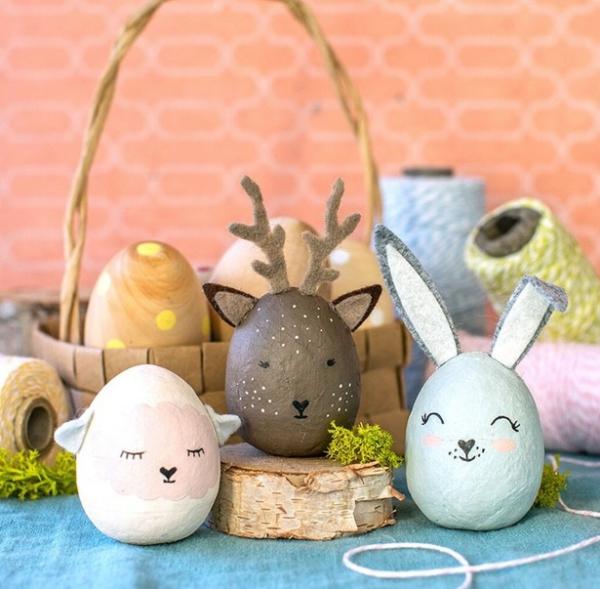 chasse aux oeufs de Pâques petites frimousses