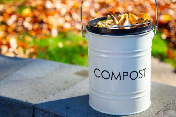 composteur bas poubelle métallique