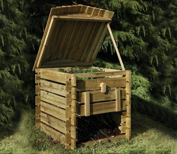 composteur jardin à faire soi-même en bois