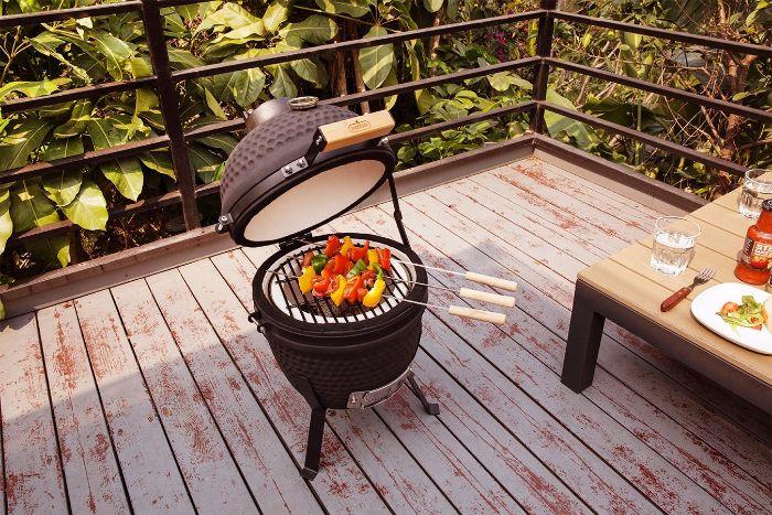 cuisine d'été extérieur bbq kamado
