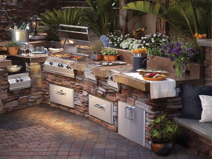 cuisine d'été extérieur design