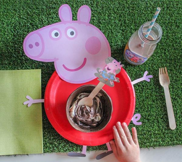 déco anniversaire peppa pig assiette en carton thématique