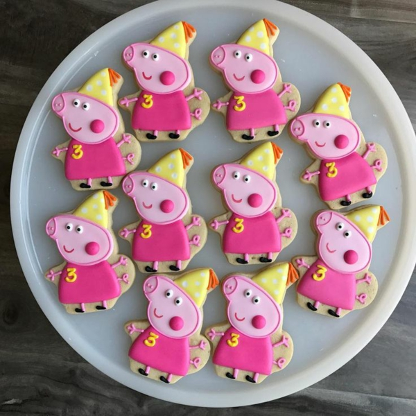 déco anniversaire peppa pig biscuits peppa