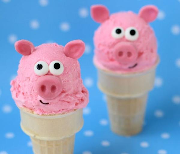 déco anniversaire peppa pig crème glacée