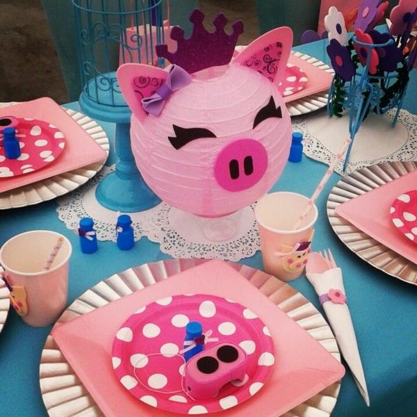 déco anniversaire peppa pig décoration de table