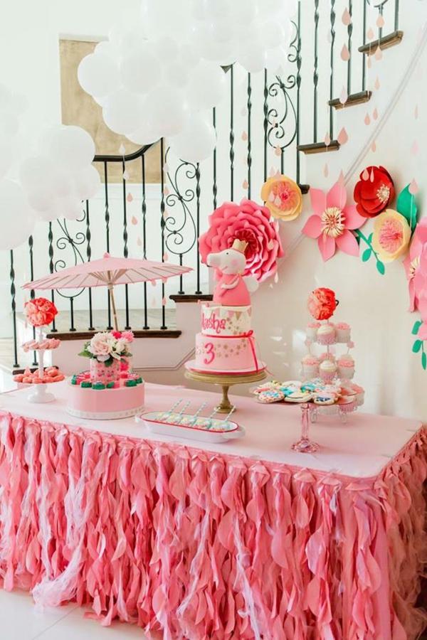 déco anniversaire peppa pig table de desserts