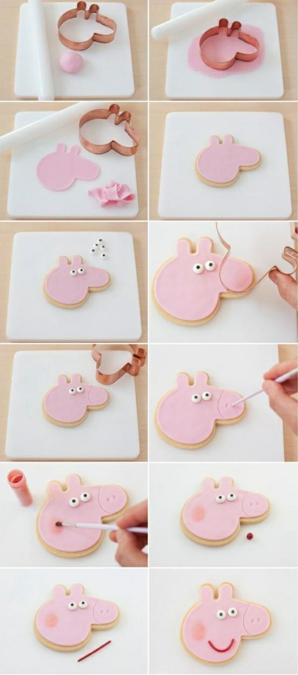 déco anniversaire peppa pig tuto préparer des biscuits